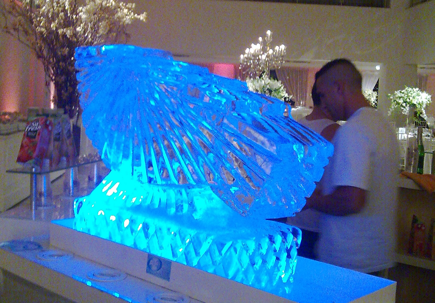 Escultura em Gelo de Tobogã para Bebidas