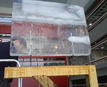 Escultura de Bandeira em Gelo