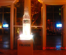 Escultura em Gelo de Garrada de Vodka para a Daslu