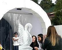 Escultura de Iglú em Gelo