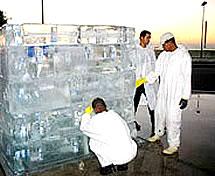 Notícias Sobre Cubo Gigante de Gelo
