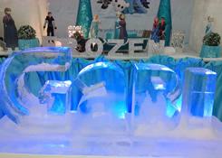 Escultura de Nome em Gelo para Festa Frozen