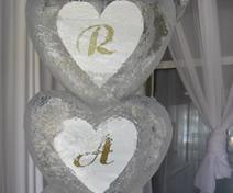 Escultura em Gelo de Coração para Casamento