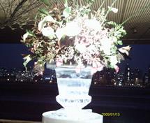 Escultura em Gelo para Casamento no Jockey Club