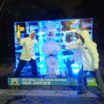 Escultura em Gelo de Urso Polar Greenpeace