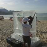 Esculturas em Gelo para a Chilli Beans