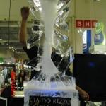 Escultura em Gelo de Coqueteleira para Evento