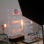 Escultura de Cenário de Gelo