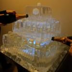 Escultura em Gelo de Bolo Aniversário Luciano