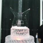 Escultura em Gelo de Bolo Guitarra