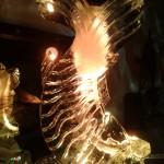 Escultura de Carpa em Gelo para Festa