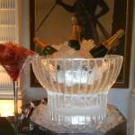 Escultura em Gelo de Champanheira para Casamento