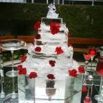 Escultura de Bolo em Gelo para Casamento