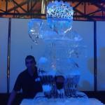 Escultura em Gelo de Urso para Formatura