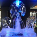 Escultura em Gelo Relógio Casio Congelado