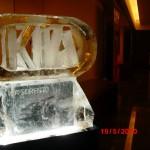 Escultura de Gelo do Logo Kia Sorento