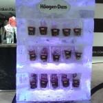 Ação Escultura de Geladeira de Gelo Haagen-Dazs