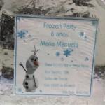 Convites de Gelo para Aniversário do Frozen