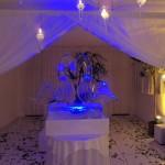 Escultura de Casamento com Cisne, Bolo de Gelo