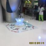 Escultura de gelo para concurso de BeyBlade em Aniversário