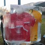 Esculturas em Cubão de gelo cristal da Suíça