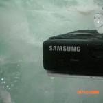 Escultura Cubo Gigante de Gelo Samsung