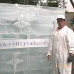 Escultura em Gelo na Ação Johnson Berrine