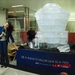 Escultura de Diamante de Gelo