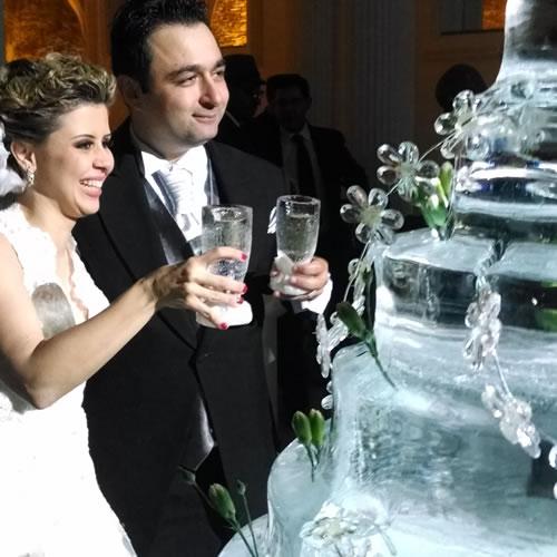 Esculturas em Gelo para Casamento Pathernon