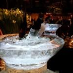 Escultura em Gelo de Champanheiras para Casamento