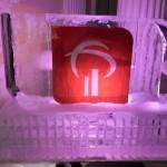 Escultura em Gelo do Logo Bradesco