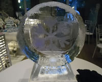 Escultura de Centros de Mesa em Gelo