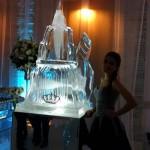 Escultura Bolo de Gelo para Festa de Debutante