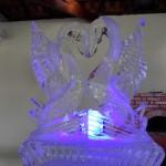 Escultura em Gelo de Cisne para Casamento