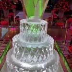 Escultura de Bolo de Gelo para Festa de 15 Anos